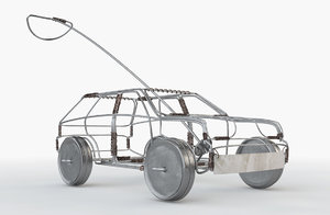 3D wire toy car model