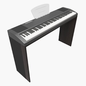3D model piano music instrument