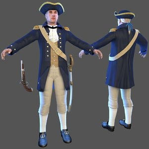 royal navy officer 3D model