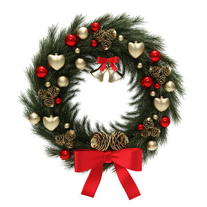 christmas wreath model