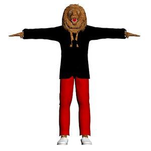 3D lionman creatures - model