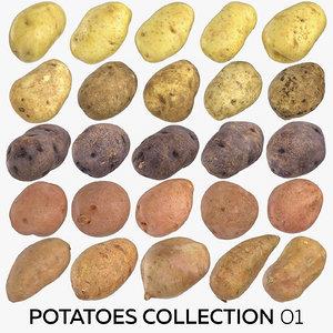 potatoes 01 - 25 3D model