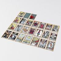 Old Tarot Cards - Major Arcana - Tinted