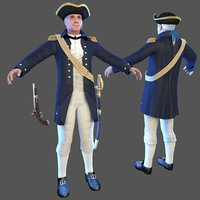 3D royal navy officer