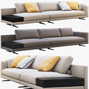 poliform mondrian modular sofa 3D model