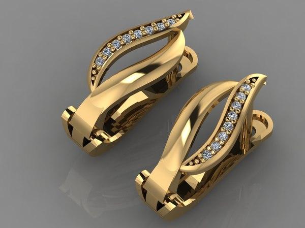 gold ring diamond 3D model