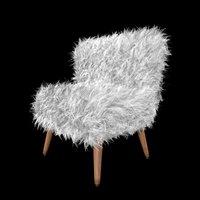 gypsy faux fur chair 3D