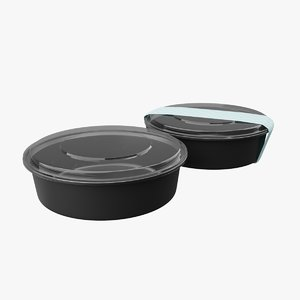 meal prep container 3D model
