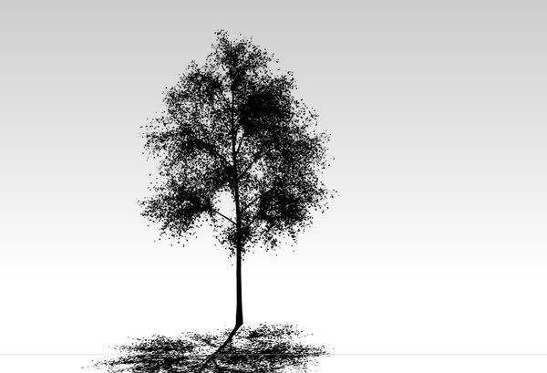 3D high-detailed hornbeam tree leaves