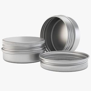 15ml aluminium jar model