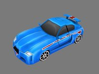 3D cartoon car model