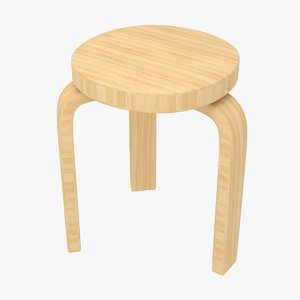 realistic stool simple 3D model