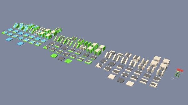 3D model isometric roads