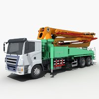 vehicle of concrete pumping