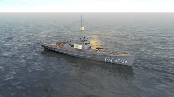 anti submarine chaser navy 3D model