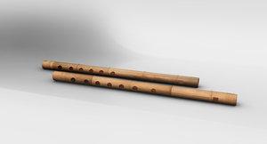 flute 3D