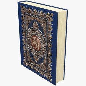 3D quran book model