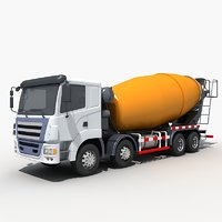 concrete mixing truck 3D model