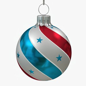 american christmas ball twisted 3D