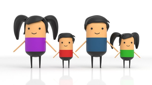 3D model characters stylised explainer video