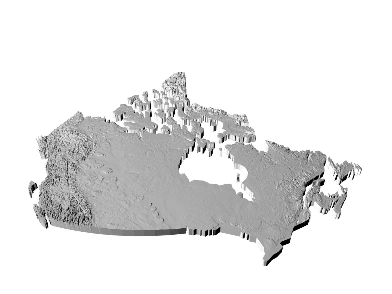 canada provinces printable 3D model