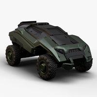 3D modern military vehicle