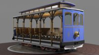tourist open trolley 3D