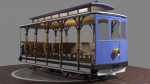 tourist open trolley 3D
