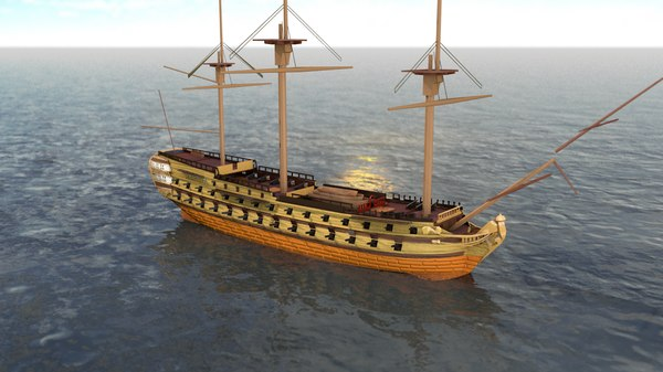 le superbe french ship 3D model