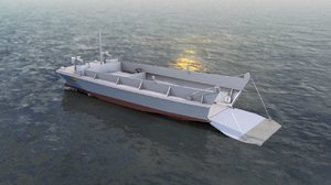 lcvp military boat 3D model