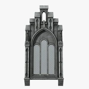 gothic window 05 3D