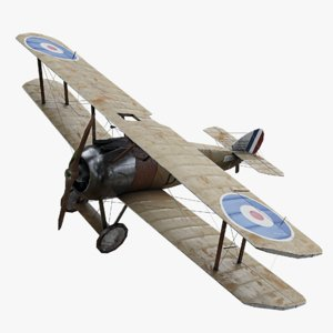 3D sopwith camel ww1 airplane model