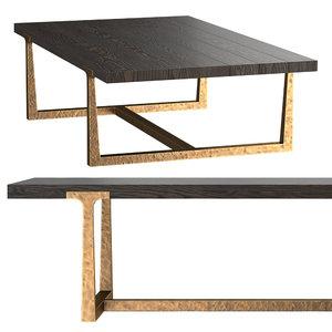 3D t-brace rectangular coffee table