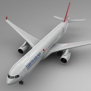 airbus a330-300 turkish airlines 3D model