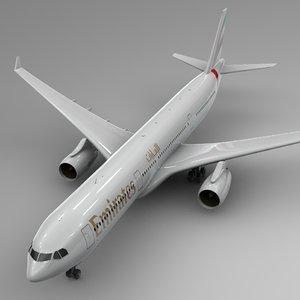 airbus a330-300 emirates l348 3D