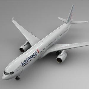3D airbus a330-300 air france