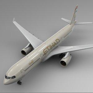 airbus a330-300 etihad airways 3D model