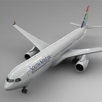 3D airbus a330-300 south african