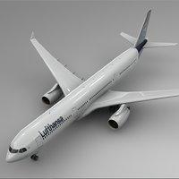 airbus a330-300 lufthansa l342 3D model