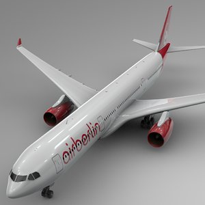 3D model airbus a330-300 air berlin
