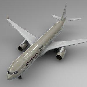 3D airbus a330-300 qatar airways model
