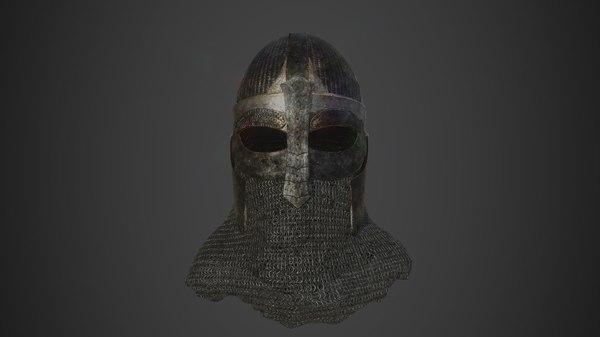3D scandinavian helmet helm