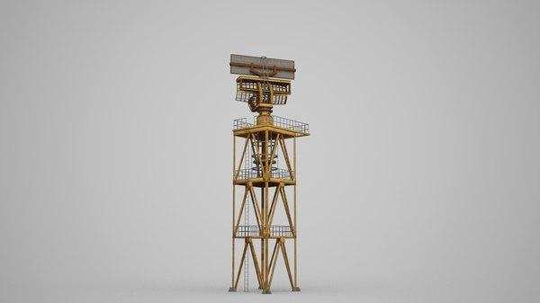3D model small radar station
