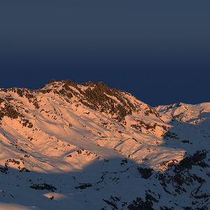 mountains parametric snowiness 3D model