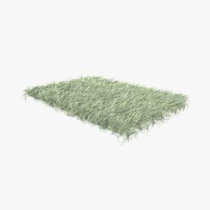 cream fur sheepskin carpet rug 3D model