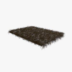 dark brown fur sheepskin 3D model