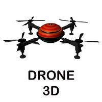 3D model drone