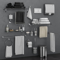 bathroom accessories grohe atrio 3D model