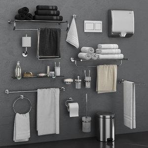 bathroom accessories grohe atrio 3D model