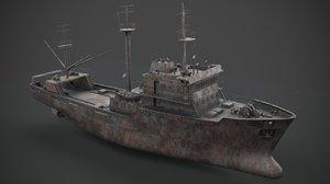 3D old abandoned vessel